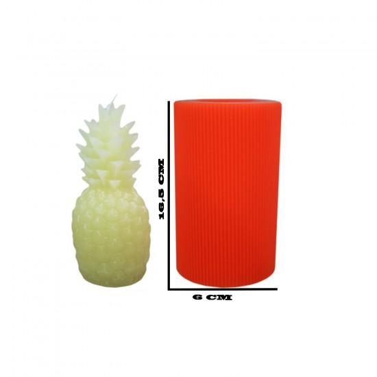 Silikon Ananas Mum Kalıbı  16.5X6 CM Mum-32
