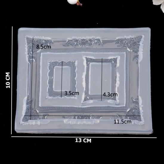 Epoksi Silikon Kalıp Fotoğraf Çerçevesi Üçlü 10X13 CM