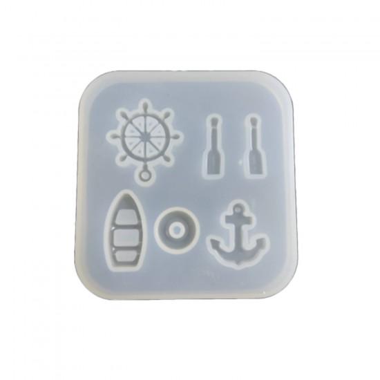 Epoksi Silikon Kalıp  Minik Denizci Modeller  6 Lı