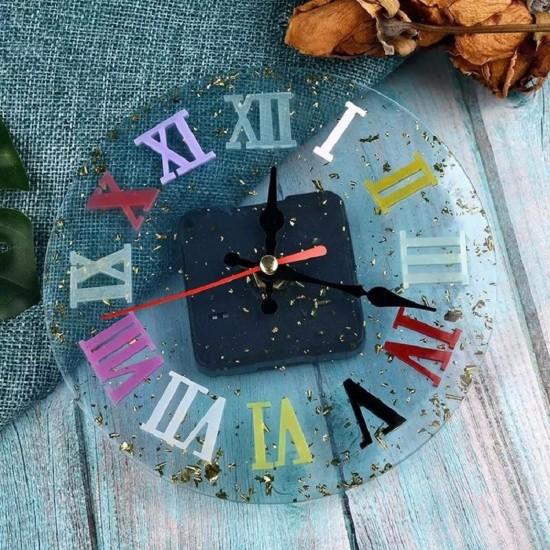 Epoksi Silikon Kalıp Roma Rakamlı Saat Kalıbı Küçük Boy 10 CM