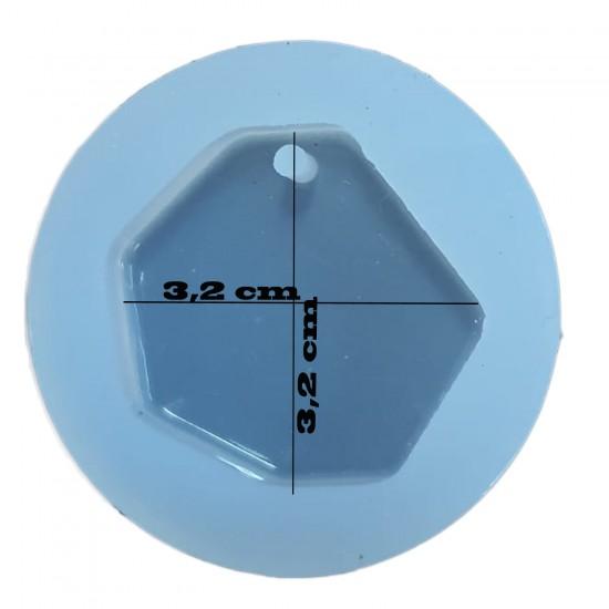 Epoksi SilikonTakı Ve Kolye Kalıbı Köşeli Yuvarlak Model 3.2CM E1