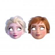 Frozen 2 Temalı Temalı Kağıt Maske Karlar Ülkesi (6 Adet)