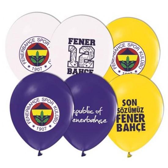 Fenerbahçe  Temalı Balon 4+1 Pastel Renk (20 Adet)