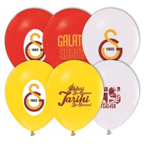 Galatasaray Temalı Balon 4+1 Pastel Renk (20 Adet)