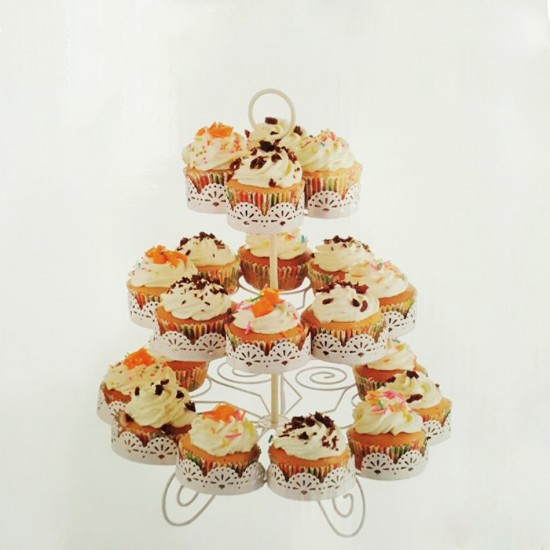 Metal Cupcake Standı 3 Katlı 22 Li Kek Standı