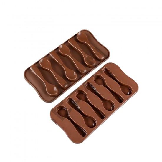 Kaşık Çikolata Kalıbı Silikon   6 Lı