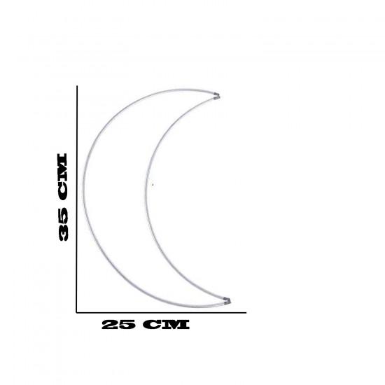 Metal Makrome Ay  Makrome  Kalıbı 35 CM