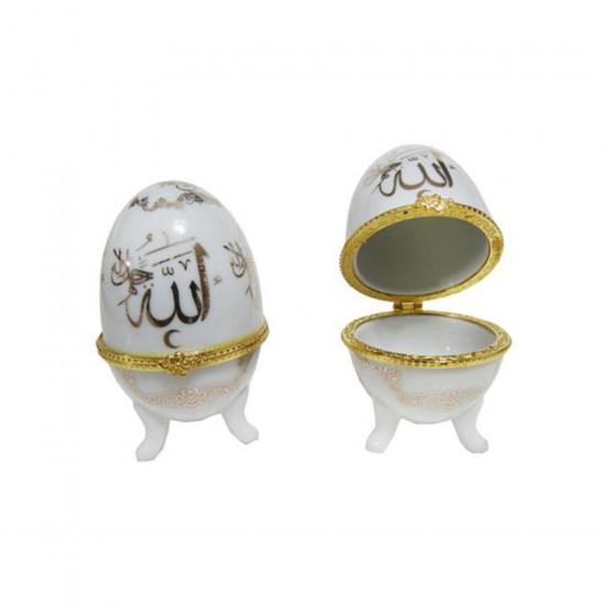 Yumurta Seramik Ayetli Allah C.C (10 Adet)