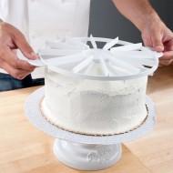 Pasta Dilimleme Aparatı Eşit Dilim Şablonu Plastik  8 Ve 12 Dilim