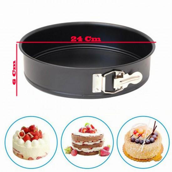 Patisse Yuvarlak Kelepçeli Altı Çıkan Pasta Kek Kalıbı 6.5X24 CM