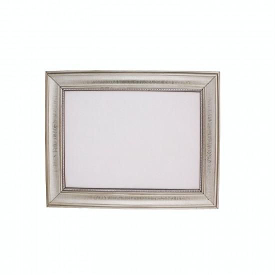 Polyester Kapı Süsü Çerçevesi Ortası Boş Gümüş Kasa 33X42 CM