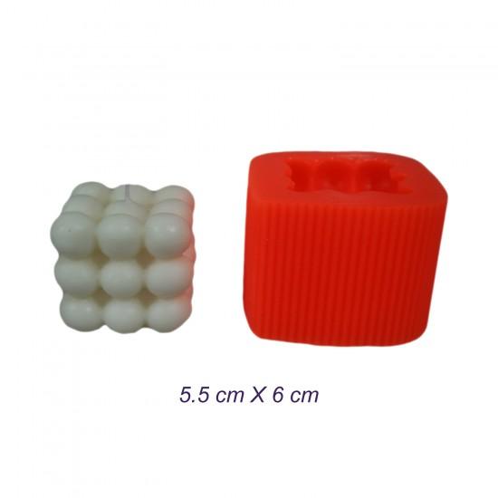 Silikon Mum Kalıbı Bubble Model KARE  5.5X6 CM