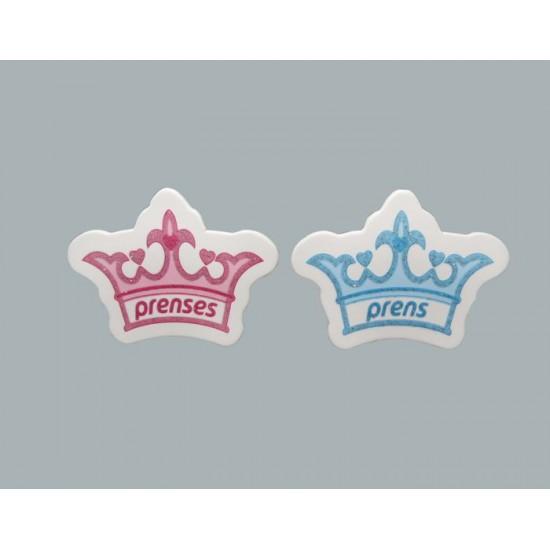 Sticker Taç Prens/Prenses (50 Adet)