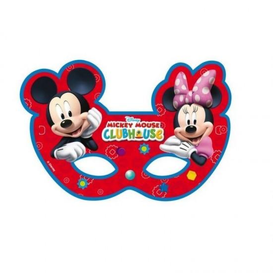 Mickey Mause Minnie Maus Temalı Kağıt Maske (6 Adet)