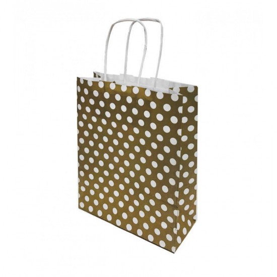 Karton Çanta Küçük Boy Puantiyeli 18X24 (25 Adet)