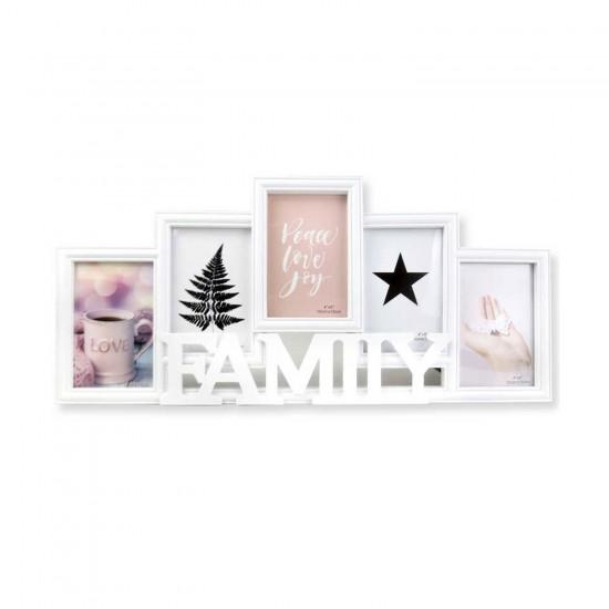 Ahşap Hediyelik Aile Çerçevesi  Famıly 5 li Set