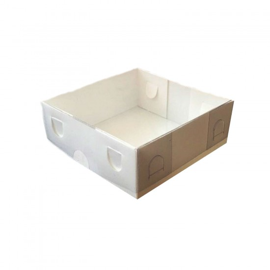 Asetat Kapaklı Karton Kutu Düz Renk 9X9X3 CM (50 Adet)