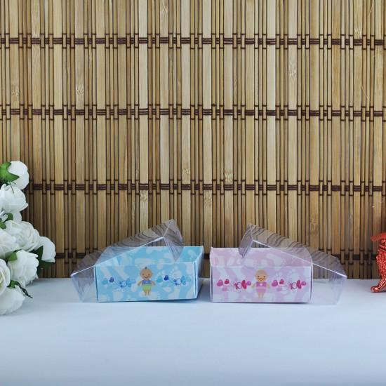 Asetat Kapaklı Karton Kutu Emzikli Bebek 8X8X3 (50 Adet)