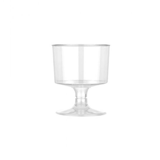 Ayaklı Shot Bardağı Küçük Plastik Kadeh 50 ML (6 Adet)