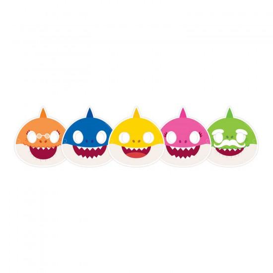 Baby Shark Temalı Maske (6 Adet)