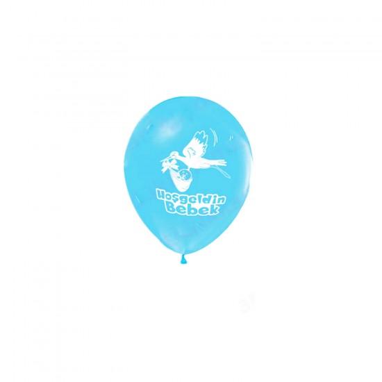 Balon 1+1 Hoşgeldin Bebek Baskılı Pastel (20 Adet)