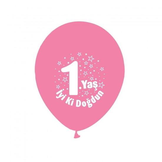 Balon 1.Yaş iyiki Doğdun Yazılı (20 Adet)