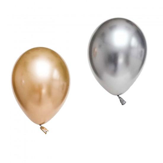 Krom Parlak Balon 16 İNÇ  (5 Adet)