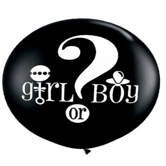 Balon Cinsiyet Belirleme Balonu Çift Tarafı Baskılı 36 İnç(90 CM)