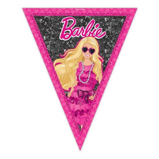 Barbie Klasik Temalı Flama Bayrak Üçgen Bayrak Set