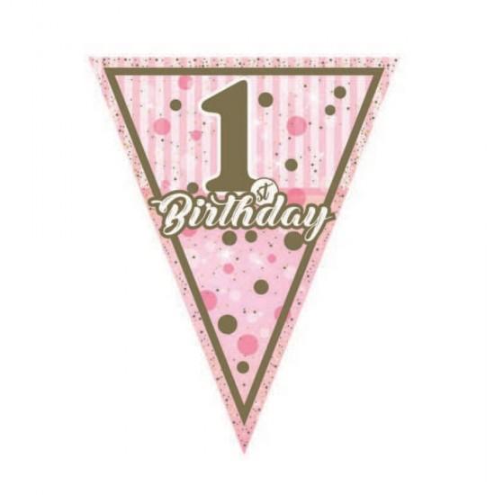Bayrak Set Flama 1 Yaş Birthday Pırıltılı First 11 li Flama