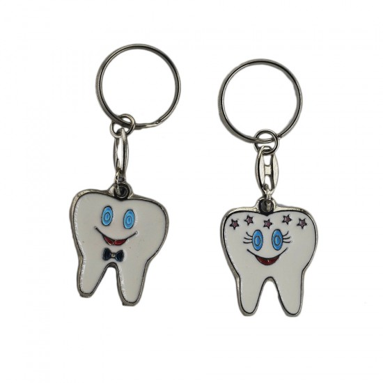 Bebek Anahtarlığı Metal Diş (Diş Buğdayı) (10 Adet)