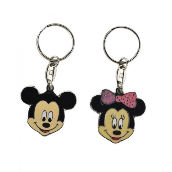 Bebek Anahtarlığı Metal Mickey Ve Minnie (10 Adet)