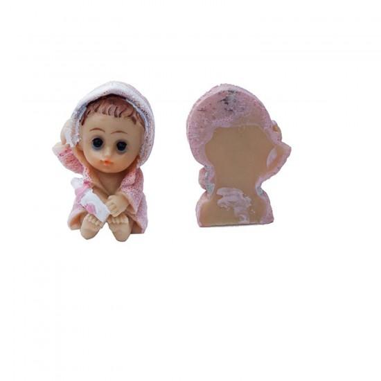 Bebek Şekeri Biblosu Bebek Bornozlu Magnet (50 Adet)