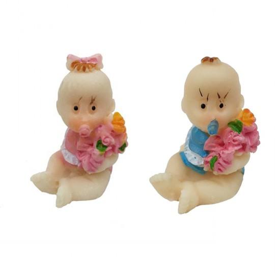Bebek Şekeri Biblosu Bebek Minik Çiçekli (50 Adet)