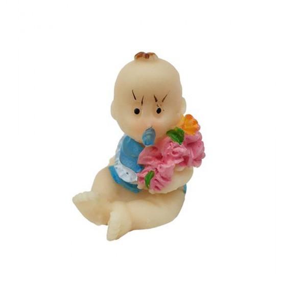 Bebek Şekeri Biblosu Bebek Çiçekli (50 Adet)