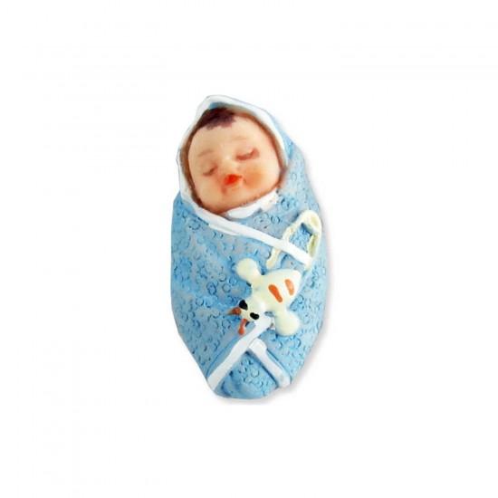 Bebek Şekeri Biblosu Bebek Kundakta Küçük Boy 2x4 CM (50 Adet)
