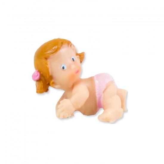 Bebek Şekeri Biblosu Polyester Bebek Sarı Başlı (50 Adet)
