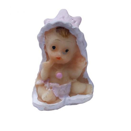 Bebek Şekeri Biblosu Bebek Taçlı (50 Adet)