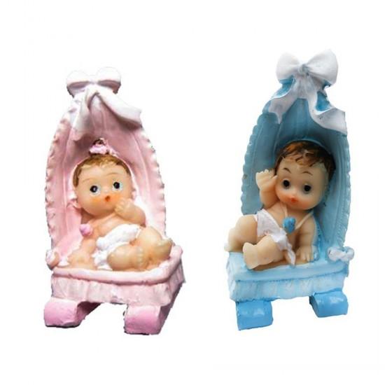 Bebek Şekeri Biblosu Bebek Yatağında Fiyonklu (20 Adet)