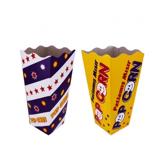 Büyük Boy Popcorn Patlamış Mısır Kutusu 17X12 CM (10 Adet)