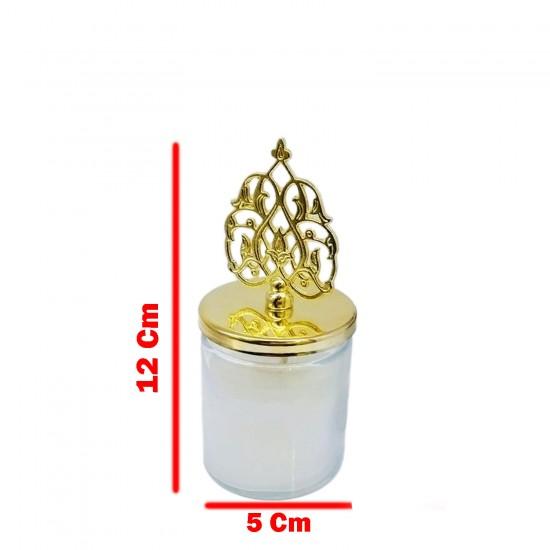 Cam Bardak Mum Kubbeli Model (Sultan Mumu) Yaprak