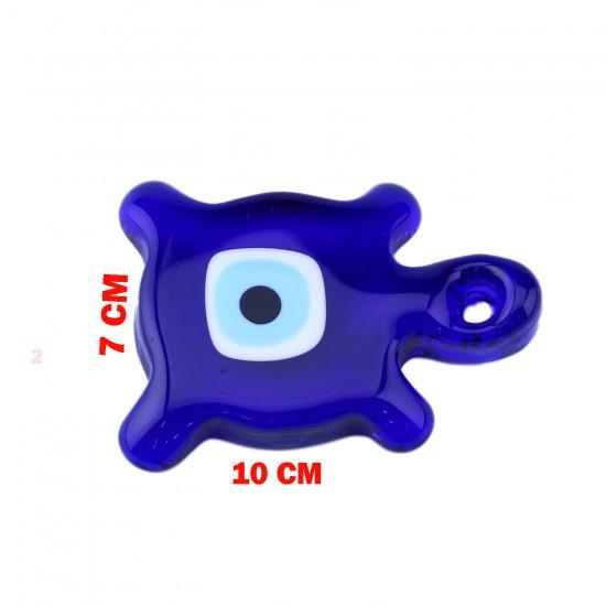 Cam Nazar Boncuğu Delikli Kaplumbağa Modeli Büyük Boy