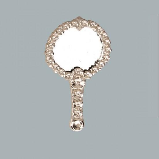 Ayna Çiçekli Metal Gümüş (10 Adet)