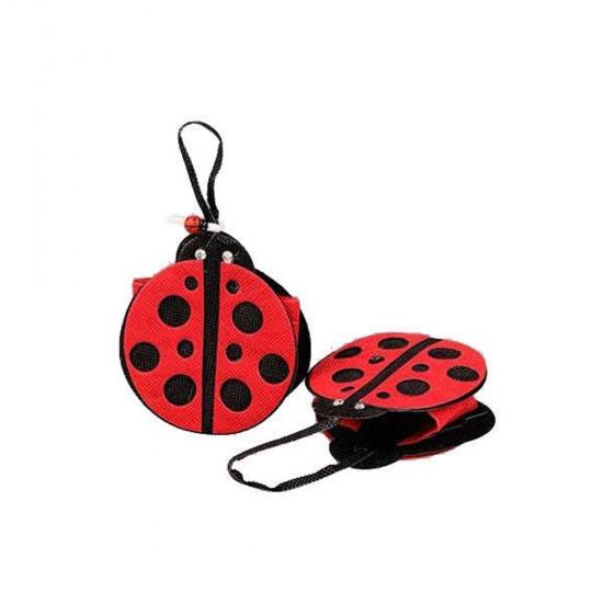 Çanta Uğur Böcekli Kırmızı (10 Adet)