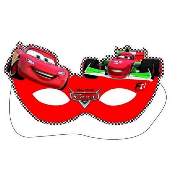 Cars Temalı Kağıt Maske (6 Adet)