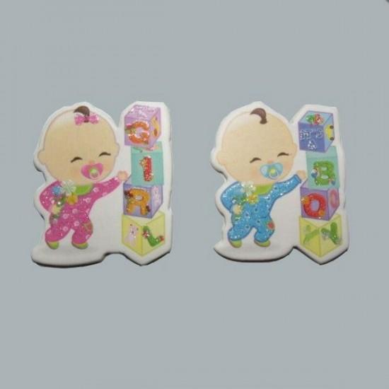 Sticker Gırl Ve Boy Küplü Karton (50 Adet)