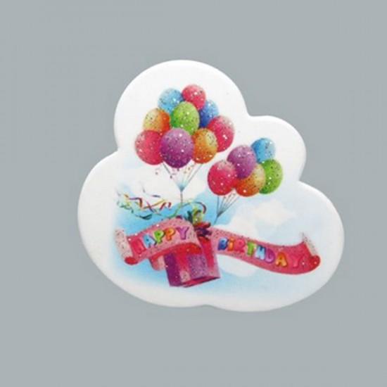 Sticker Happy Bırthday Balonlu (50 Adet)