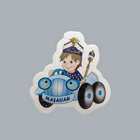Sticker Sünnet Çocuğu Mavi Arabada (50 Adet)