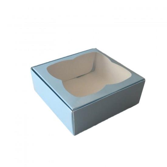 Çerçeveli Karton Kutu 8X8X3 CM (50 Adet)