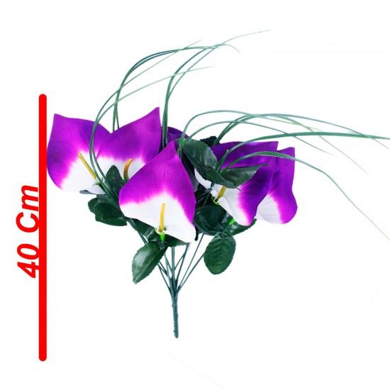 Yapay Çiçek Gelin Buketi Gala Modeli 6 Başlı 40 CM